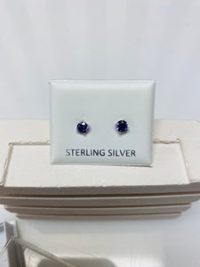Sterling Silver Diamanté Stud Earrings