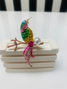 Birds Of Paradise Pink Broach