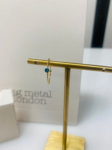 Gold Ring With An Aqua Stone
