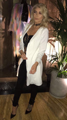 A White Blazer Jacket / Dress Knee Length