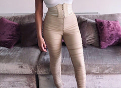 High Waisted Fit Stretchy Short Sleeved Crop Top