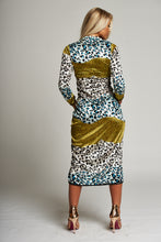 Load image into Gallery viewer, A Leopard Multi-Print Midi Dress with Ruched Detail