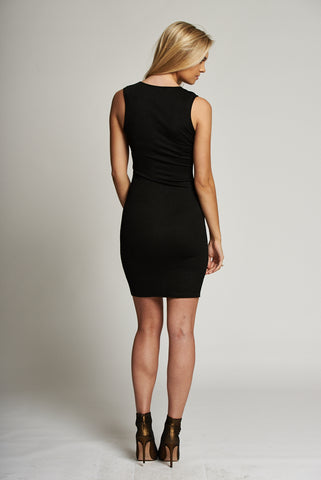 Black Bodycon Sleeveless Dress