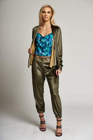 Gold Cuffed Trousers