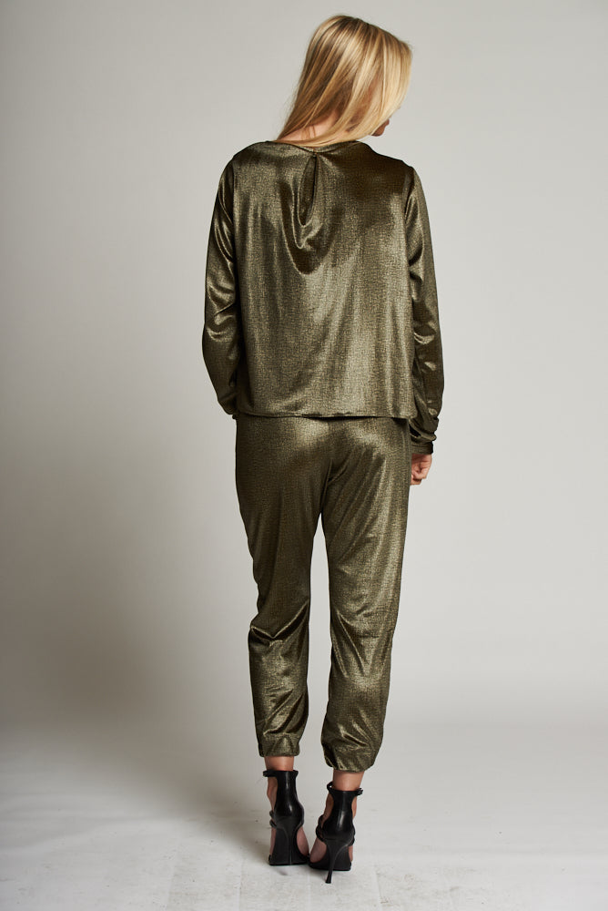 A Gold Cuffed Trousers