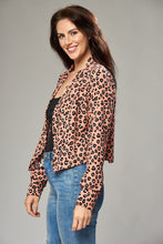 Load image into Gallery viewer, Salmon Pink Leopard Print Jacket