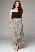 Load image into Gallery viewer, Tiger and Leopard Print Wrap Fill Maxi Skirt
