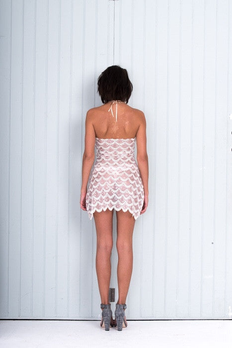 Short Pink Luxe Sequin Party Dress