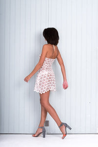 A Short Pink Luxe Sequin Party Dress