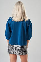 Load image into Gallery viewer, Teal Jacket with Puff Sleeves