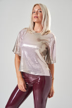 Load image into Gallery viewer, Pink & Gold Sequin Top