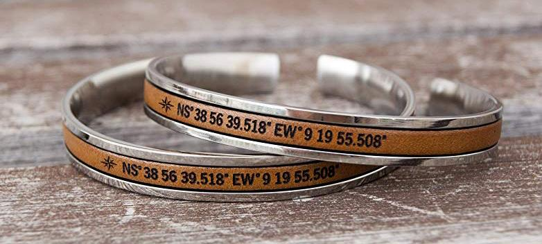 Personalized Coordinates Jewelry | CoupleGifts.com