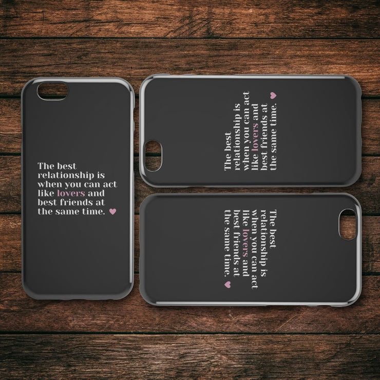 Best Friends And Lovers IPhone Case - CoupleGifts.com