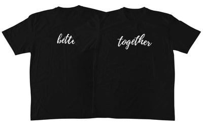 Better Together Black Couple T-Shirts - Shirts - S