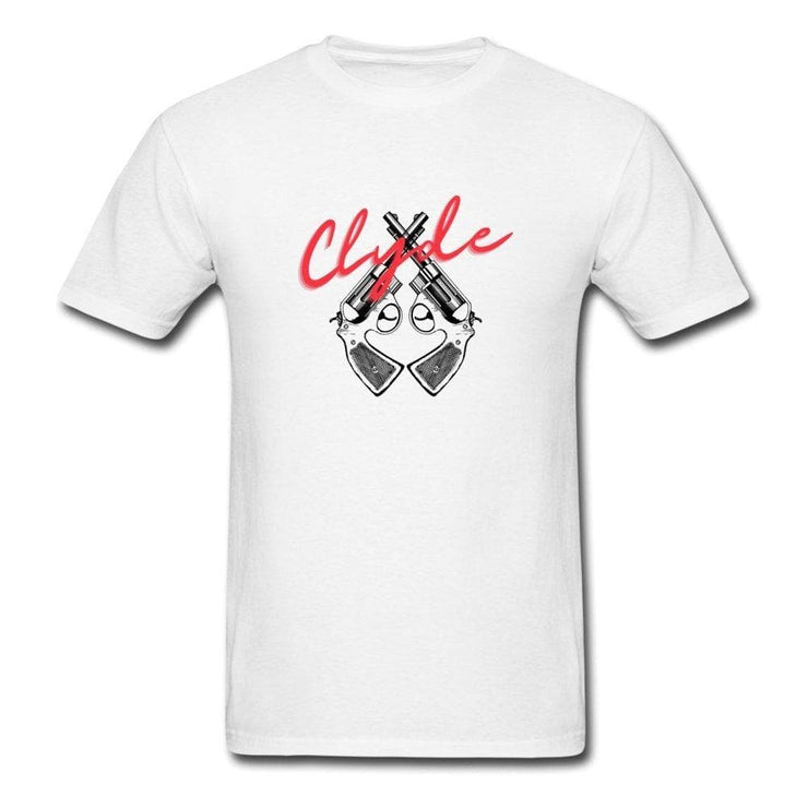Bonnie And Clyde White Couple T-Shirts - CoupleGifts.com
