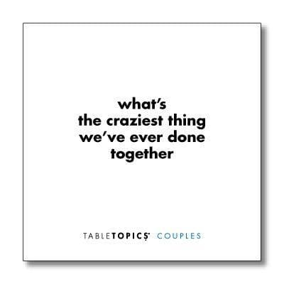 Conversation Topics for Couples - Questions for a Great Relationship - CoupleGifts.com