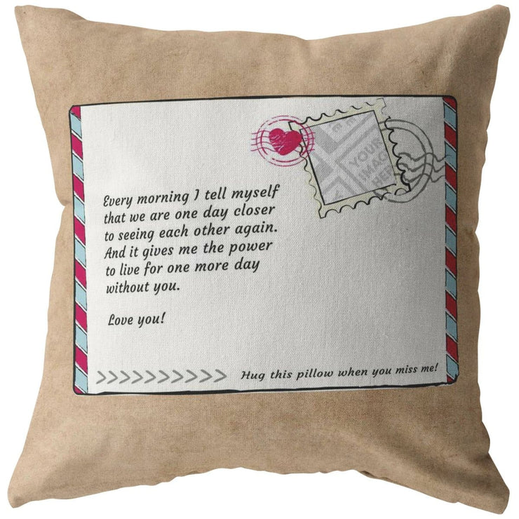 Custom Photo Postcard Pillow - Personalize with Your Own Image - CoupleGifts.com