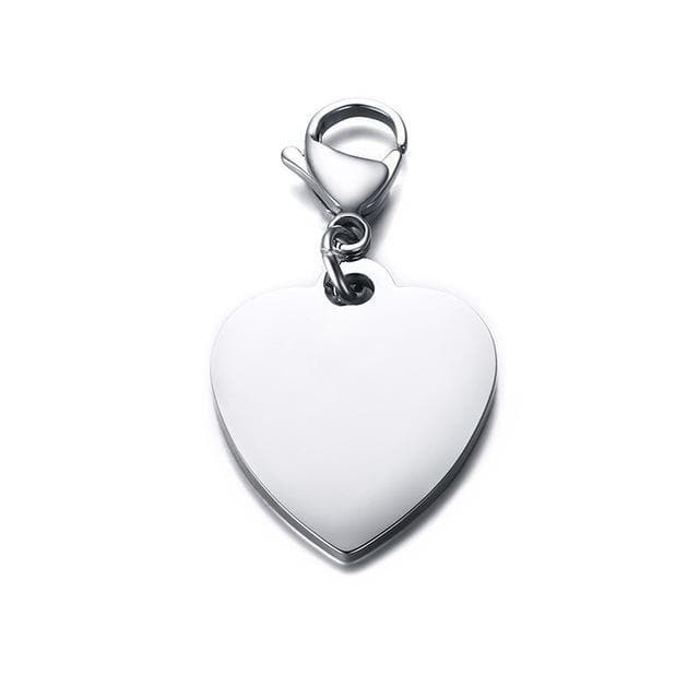 Customizable Heart Keychain - CoupleGifts.com