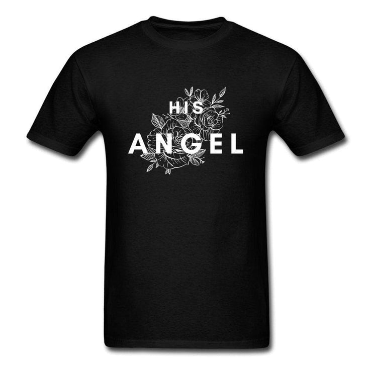 Demon And Angel Matching Couple T-Shirts - CoupleGifts.com