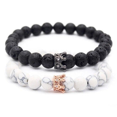 Distance Crown Bracelets for Couples - Bracelets - Zeus