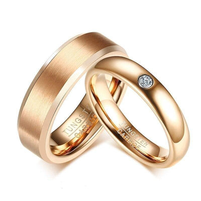 Elegant Promise Rings for Couples in Rose-Gold - Ring - 7
