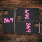 24/7 Love iPhone Case for Couples