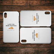 I Love You More Than Pizza iPhone Case