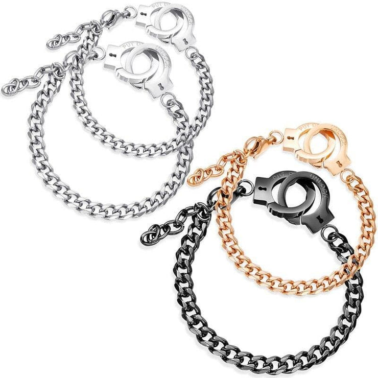 Handcuff Bracelets for Couples - CoupleGifts.com