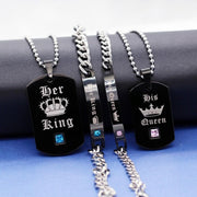His Queen Her King Matching Couples Necklaces & Bracelets - CoupleGifts.com