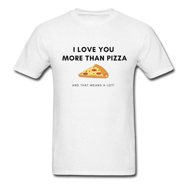 I Love You More Than Pizza Couple Shirts - CoupleGifts.com