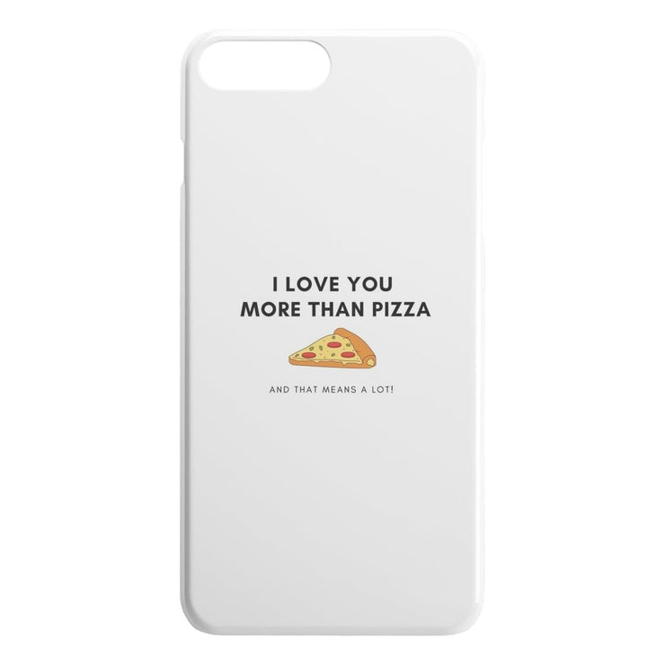I Love You More Than Pizza iPhone Case - CoupleGifts.com