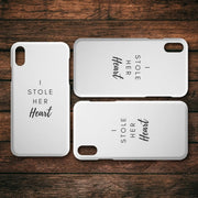 I Stole Her Heart IPhone Case - CoupleGifts.com
