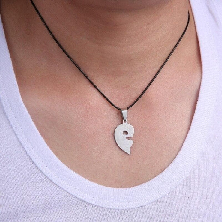 Key and Lock Interlocking Heart Necklaces for Couples - CoupleGifts.com