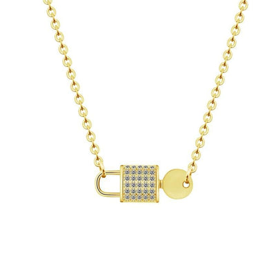 Key Lock Necklace - Necklace - Gold Color