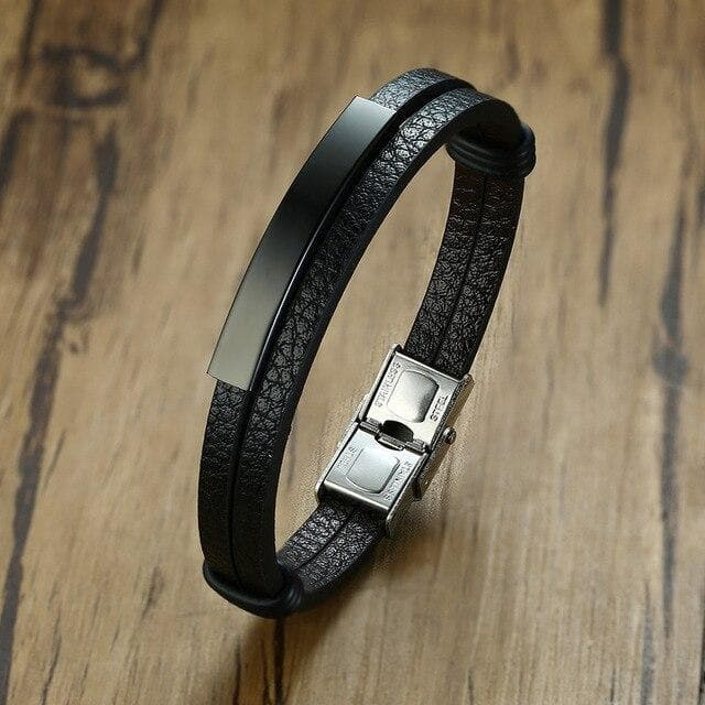 Leather Bracelets with Customized Engraving for Couples - CoupleGifts.com