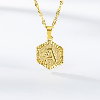 Letter Necklace with Custom Gold Initial Pendant - Necklace - Gold-color