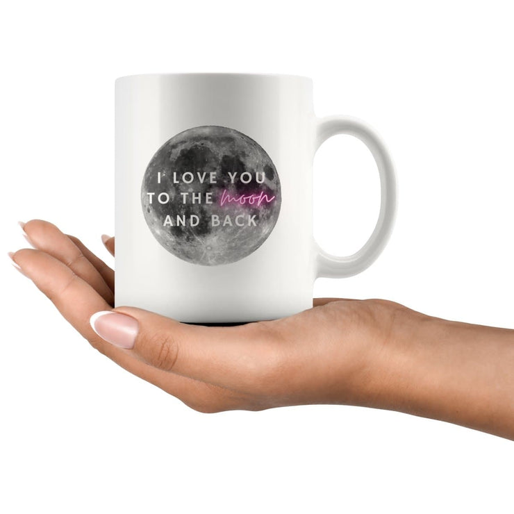 Love You To The Moon And Back Couple Mug - CoupleGifts.com