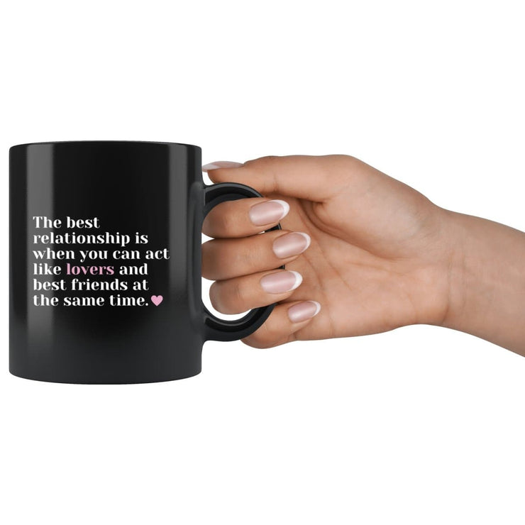 Lovers And Best Friends Couple Mug - CoupleGifts.com