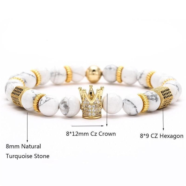 Luxury Distance Crown Bracelets for Couples - CoupleGifts.com