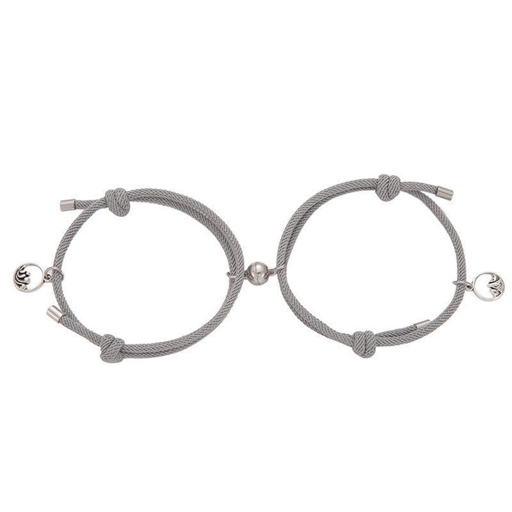 Magnetic Couple Bracelets - CoupleGifts.com