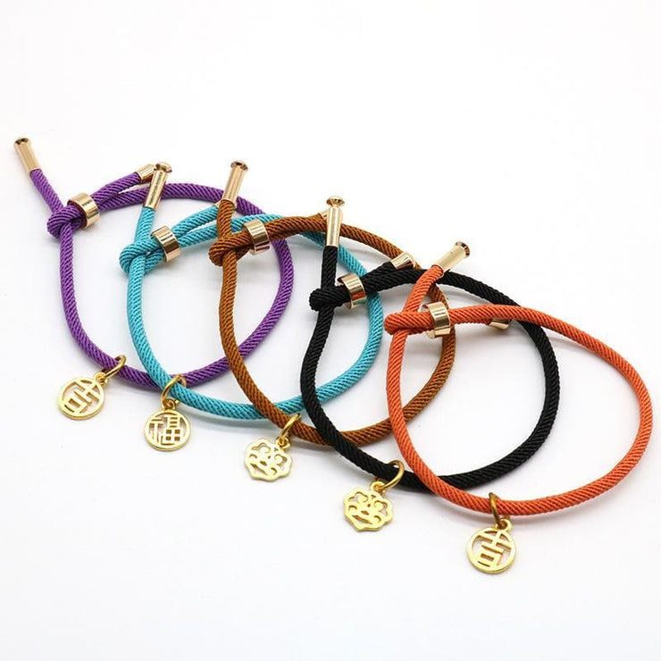 Matching Couples Rope Bracelets - CoupleGifts.com