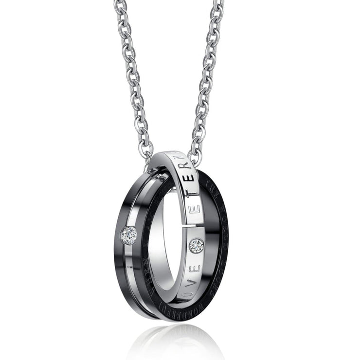 Matching Eternal Love Promise Rings with Necklaces - CoupleGifts.com