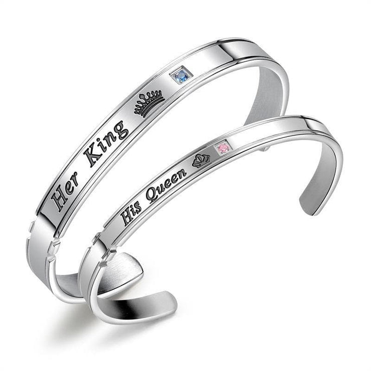 Matching King & Queen Bangles for Couples - CoupleGifts.com