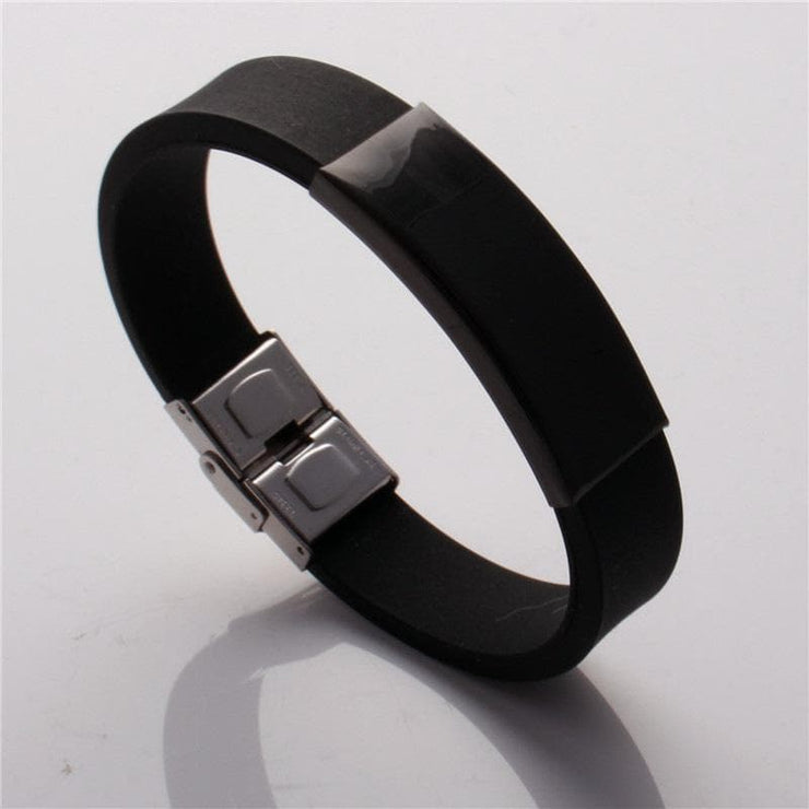 Matching Silicone Bracelets with Customized Engraving for Couples - CoupleGifts.com
