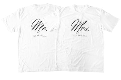 Mr. And Mrs. Couple T-Shirts - Shirts - S