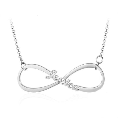 Personalized 925 Sterling Silver Infinity Name Necklace - Necklace - Silver Color