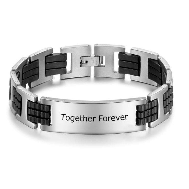 Personalized Engraved Bracelet for Men - CoupleGifts.com