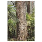 Personalized Forest Tree Heart Canvas - CoupleGifts.com