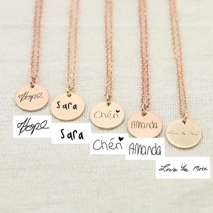 Personalized Handwriting Necklace with Custom Signature - CoupleGifts.com