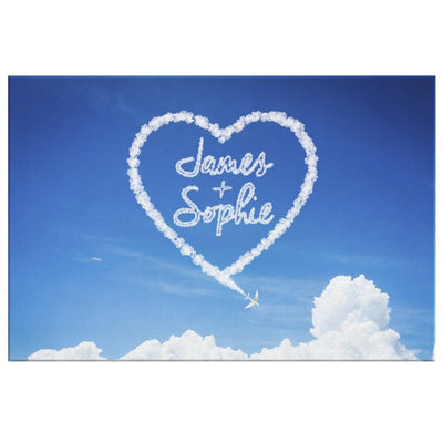 Personalized Heart Cloud Canvas - Canvas - 8 x 12